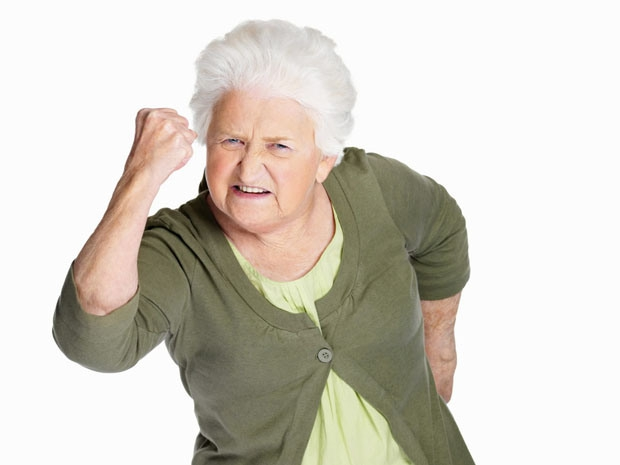 Local Input~ Portrait of a senior woman in angry gesture isolated against white Credit: Fotolia ***FOR NATIONAL POST USE ONLY***